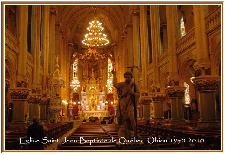 Eglise Saint jean Baptiste à Québec Obiou 1950-2010