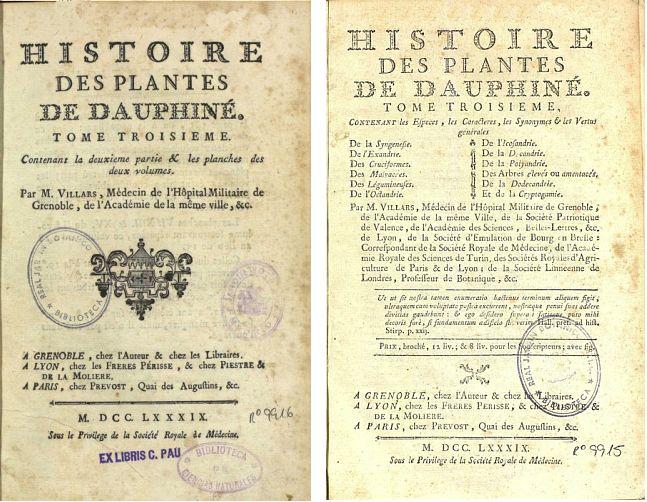 Histoire des Plantes Dominique Villars.2