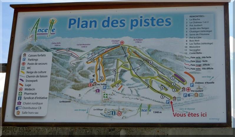 Plan des pistes Ancelle