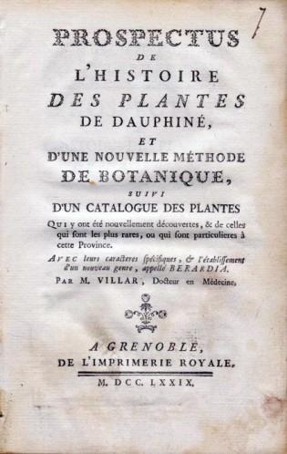 histoire des plantes dominique Villars