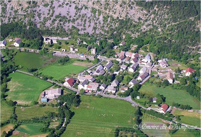 photo aerienne chateau Lesdiguières